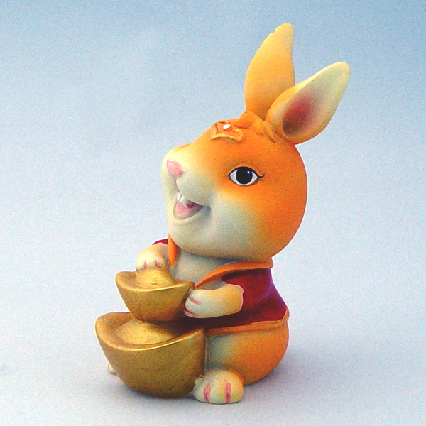 招财可爱兔子头像